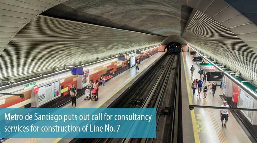 Metro de Santiago puts out call for consultancy services for construction of Line No. 7