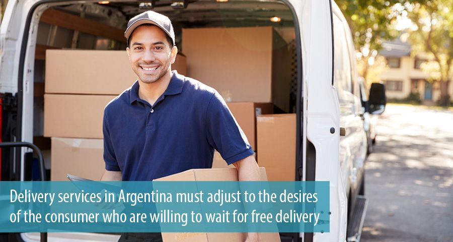 Delivery services in Argentina must adjust to the desires of the consumer who are willing to wait for free delivery