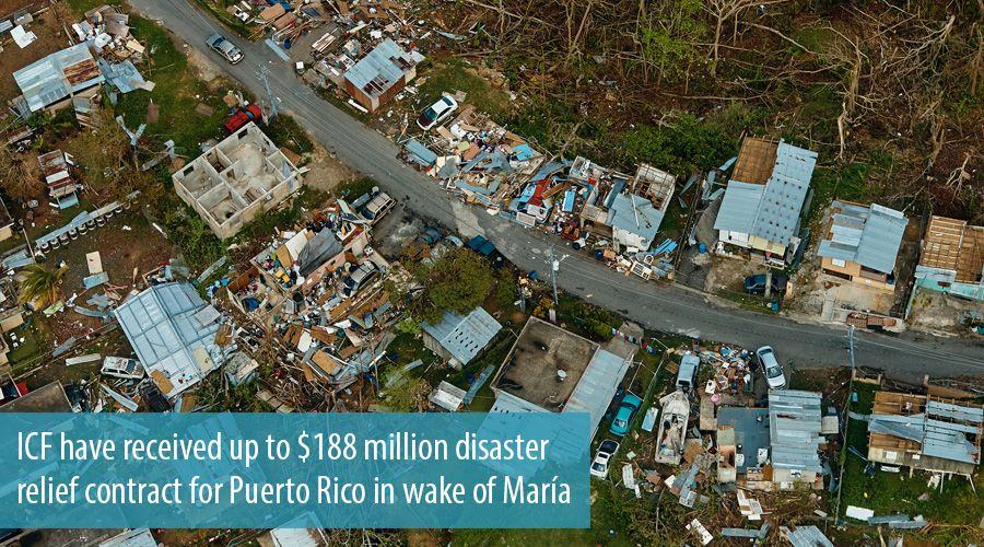 ICF have received up to $188 million disaster relief contract for Puerto Rico in wake of María