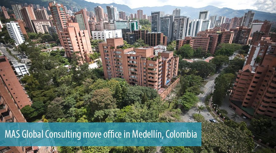 MAS Global Consulting move office in Medellín, Colombia