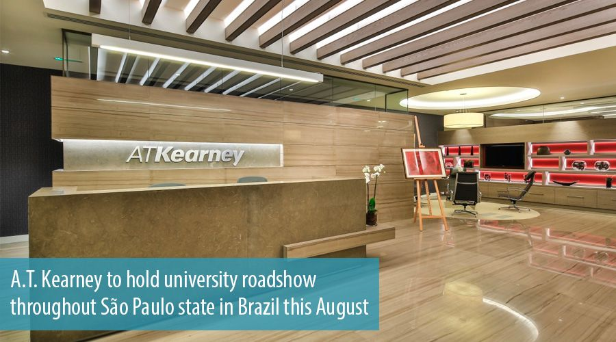 A.T. Kearney to hold university roadshow throughout São Paulo state in Brazil this August
