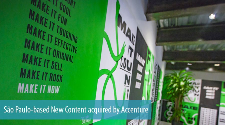 São Paulo-based New Content acquired by Accenture