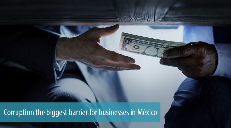 Corruption the biggest barrier for businesses in México