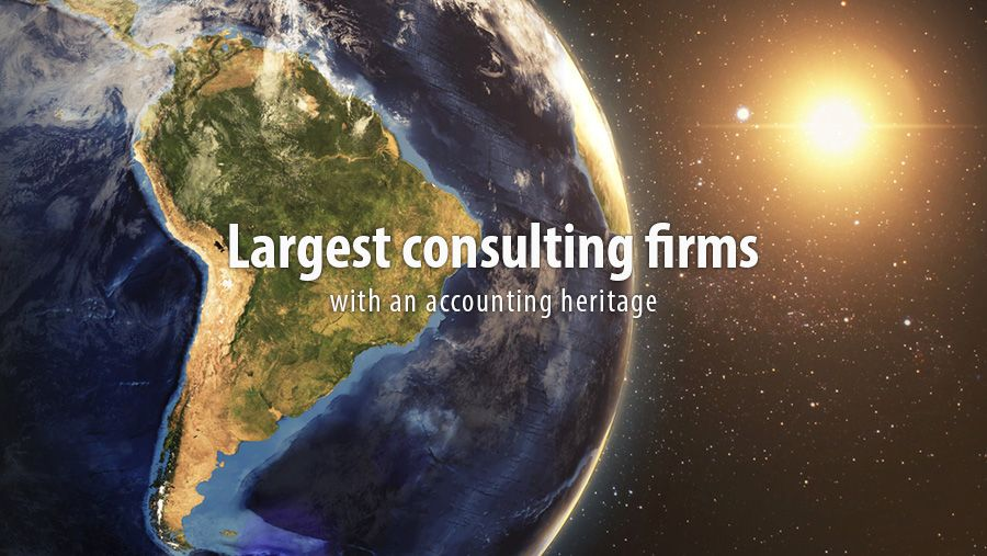 Largest consulting firms with an audit and accounting heritage